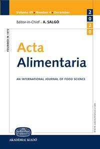 Acta Alimentaria Akjournals