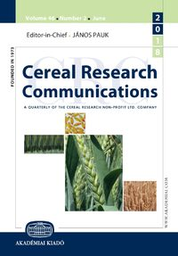 Cover Cereal Research Communications