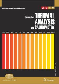 Cover Journal of Thermal Analysis and Calorimetry
