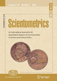 Cover Scientometrics