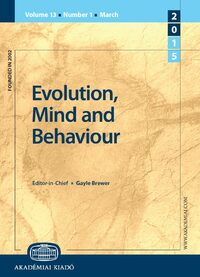 Cover Evolution, Mind and Behaviour