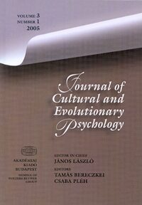 Cover Journal of Cultural and Evolutionary Psychology