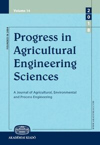 Cover Progress in Agricultural Engineering Sciences