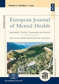 Cover European Journal of Mental Health