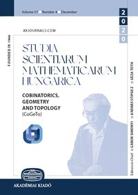 Cover Studia Scientiarum Mathematicarum Hungarica