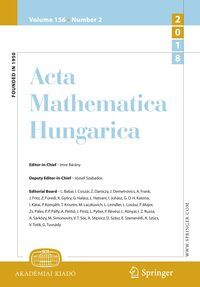 Cover Acta Mathematica Hungarica