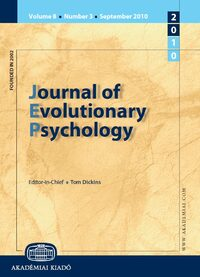 Cover Journal of Evolutionary Psychology