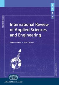 Cover International Review of Applied Sciences and Engineering