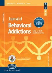 Cover Journal of Behavioral Addictions