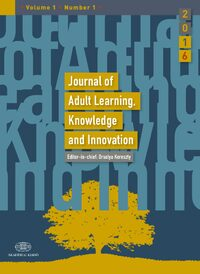 Cover Journal of Adult Learning, Knowledge and Innovation